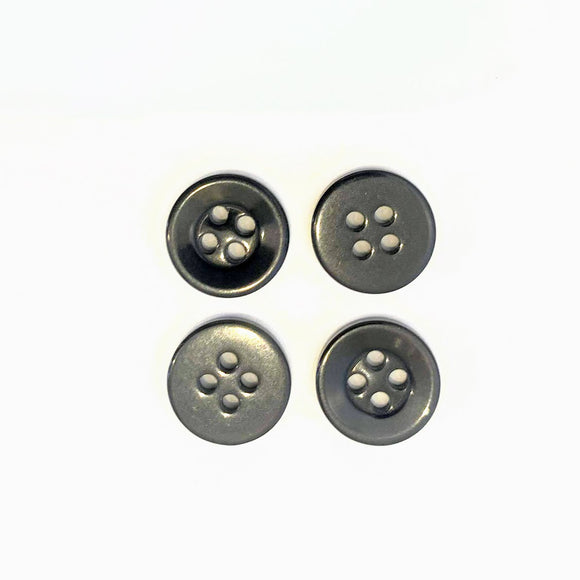 Black Shirt Buttons 4-Hole - 11mm - per button or bulk