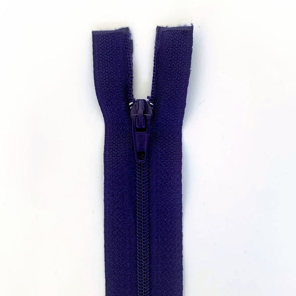 Lightweight Open Ended Separating Zipper 60cm (24″) No. 3 - Purple