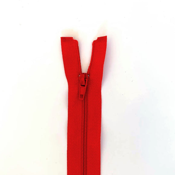 Lightweight Open Ended Separating Zipper 60cm (24″) No. 3 - Red