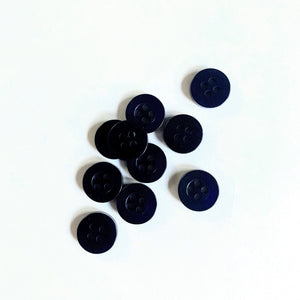 Navy Shirt Buttons 4-Hole - 11mm - per button or bulk