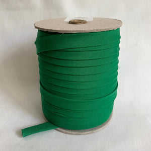 "Extra Wide Double Fold Bias Tape 13mm (1/2"") - Kelly Green - Bulk / By the Yard"