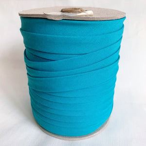 "6mm Double Fold Bias Tape - 1/4"" - Turquoise - By the Yard"