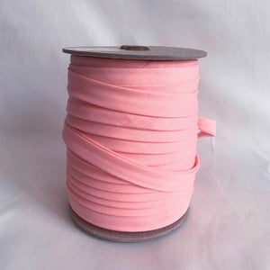 "Extra Wide Double Fold Bias Tape 13mm (1/2"") - Baby Pink - By the Yard"