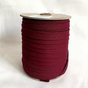 "Extra Wide Double Fold Bias Tape 13mm (1/2"") - Burgundy - Bulk / By the Yard"