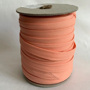 "Extra Wide Double Fold Bias Tape 13mm (1/2"") - Salmon Pink - Bulk / By the yard"