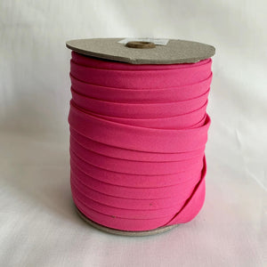 "Extra Wide Double Fold Bias Tape 13mm (1/2"") - Fuchsia Pink - Bulk / By the Yard"