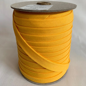 "Extra Wide Double Fold Bias Tape 13mm (1/2"") - Sunshine Yellow - Bulk / By Meter"