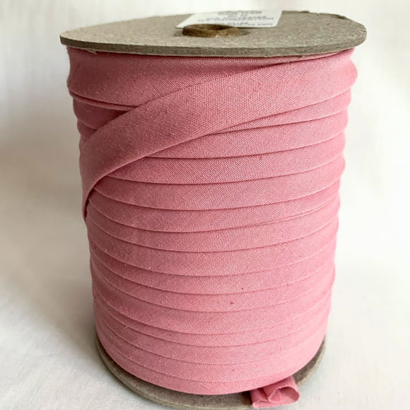 Extra Wide Double Fold Bias Tape 13mm - Dusty Pink - Bulk / By Meter