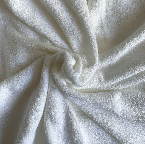 Bamboo Organic Cotton Double Loop Terry Knit Fabric 64
