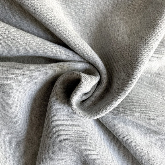 Organic Bamboo Charcoal Fleece Fabric, 350GSM - 1/2 Yard