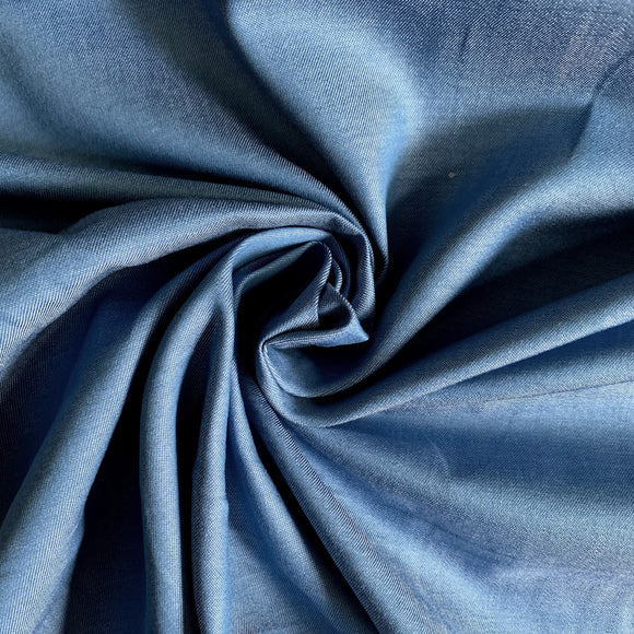 Extra Fine Chambray Denim Fabric - Light Blue - 1/2 Yard