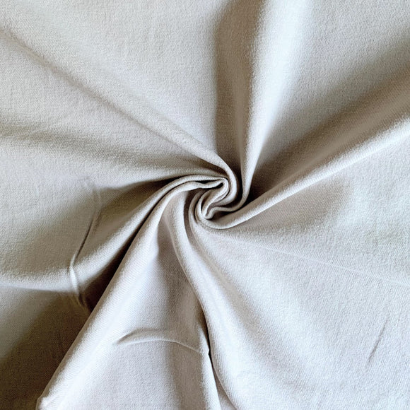 Organic Cotton Brushed Twill  Fabric - Oyster - Cream / Light Beige  - 1/2 Yard