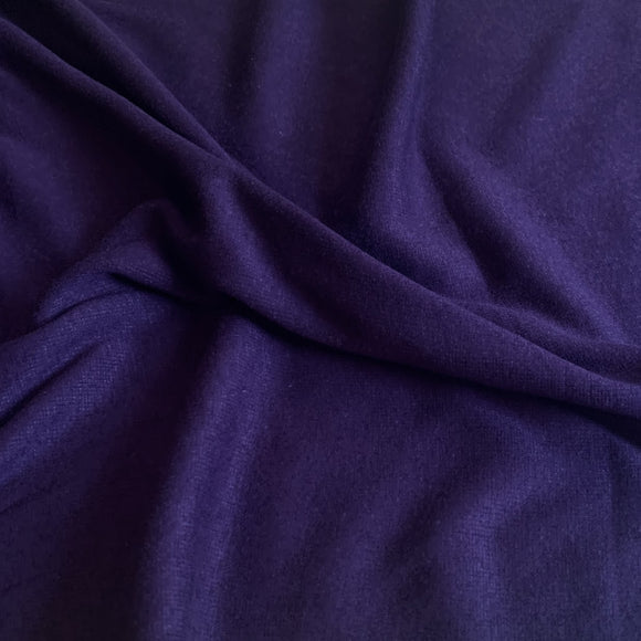 Bamboo Cotton Rib 2x2 - Plum Purple - Ribbed Knit - 1/2 Yard
