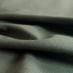 Organic Cotton Spandex  Twill  Fabric - Forest Green - 1/2 Yard