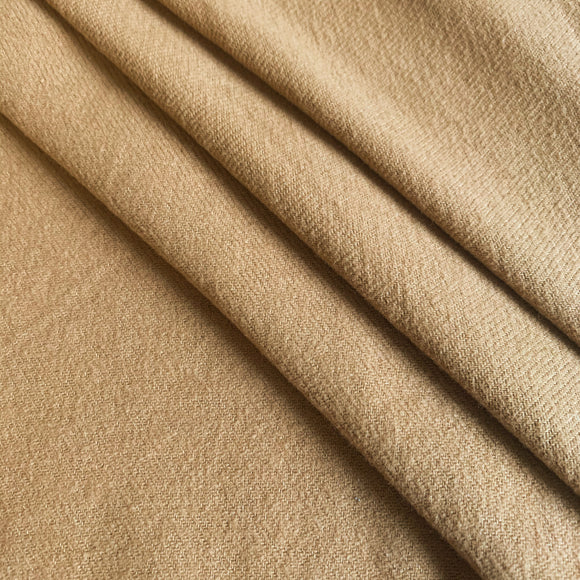 Organic Cotton Brushed Twill  Fabric - Suda Camel Brown  - 1/2 Yard
