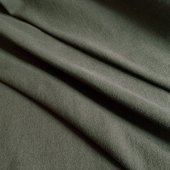 Organic Cotton Brushed Twill  Fabric - Dark Olive Green  - 1/2 Yard