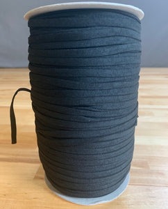 5mm Soft Knit Latex Free Nylon PPE Earloop Elastic - BLACK - 10 Meters Bundle