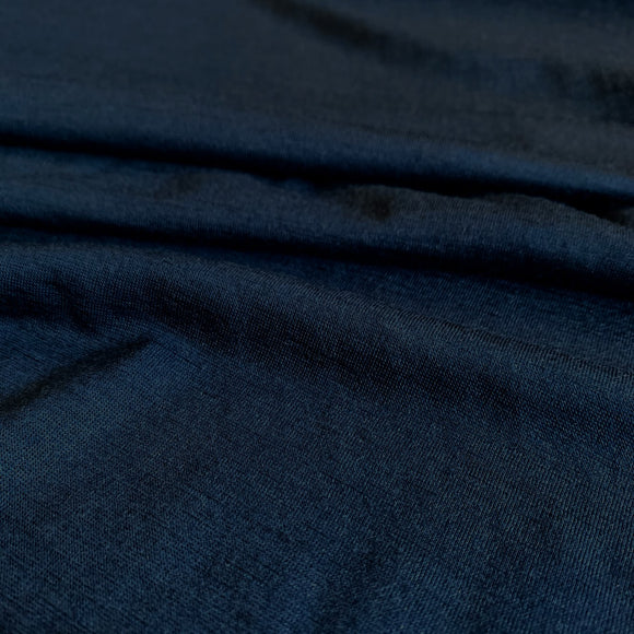 Superfine Merino Wool Jersey - Midnight Navy - 1/2 Yard