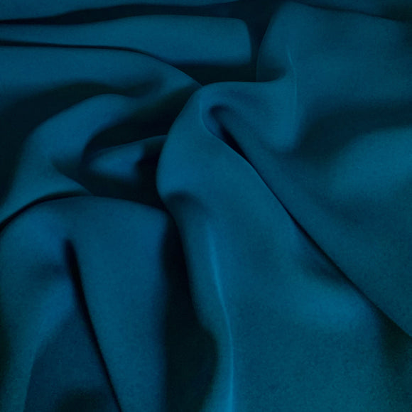 Ocean Blue Silk Georgette 14 Momme - 14mm - 1/2 yard