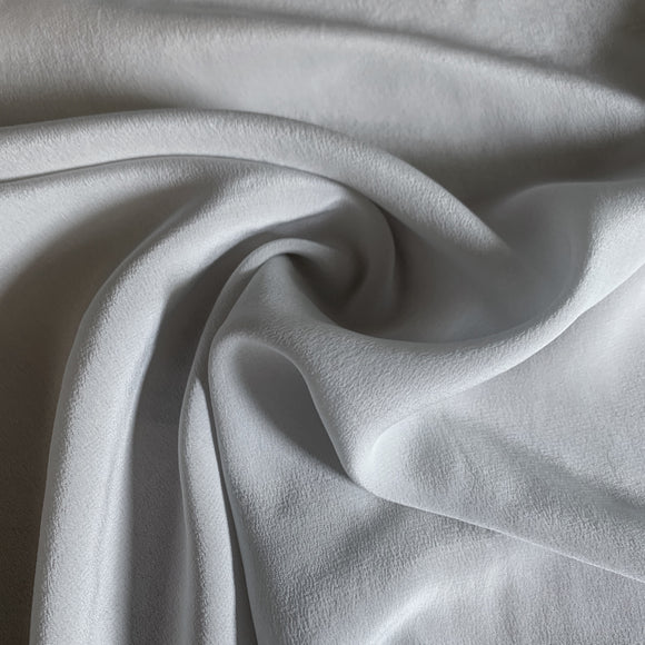 Silver Grey Silk Crepe De Chine 16 Momme - 16mm CDC - Extra Wide 54