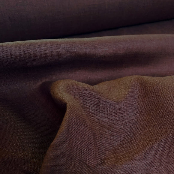 100% Linen European Woven - Chocolate Brown - 1/2 Yard