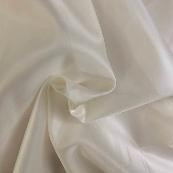 Silk Satin Face Organza - Ivory - Off-White - 11.5 Momme - 11.5mm - 54