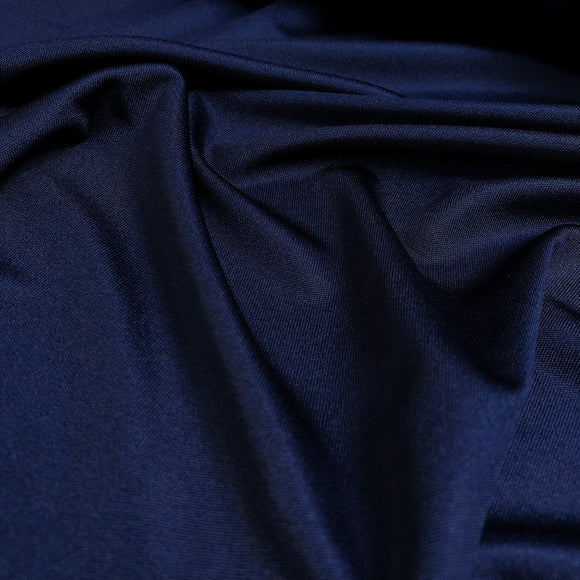 Navy Silk Interlock Jersey Knit Fabric - 40mm - 100% Silk - 56