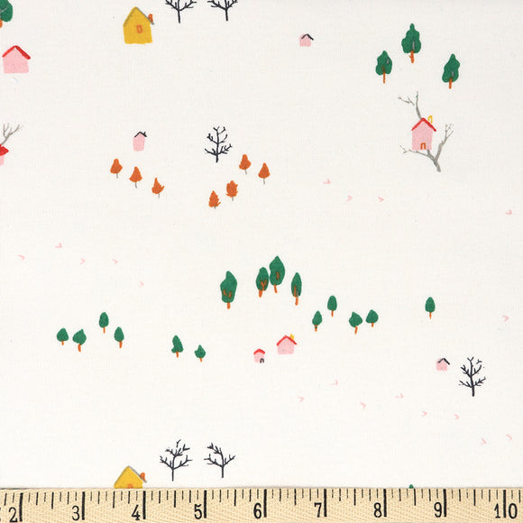 Treehouse Interlock Knit Fabric by Birch Organics - 1/2 yard