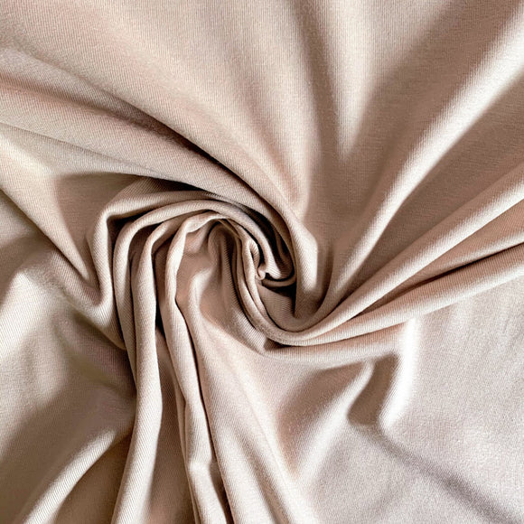 Bamboo/Cotton Stretch Jersey Knit - Nude - 1/2 Yard