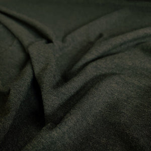 Bamboo/Cotton Stretch Jersey Knit - Heathered Forest - 1/2 Yard