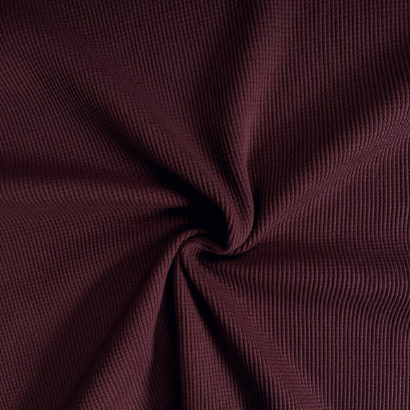 Organic Cotton Waffle Thermal Knit - Port Royal - 1/2 Yard