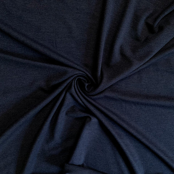 Bamboo/Cotton Stretch Jersey - Marine Navy - 1/2 Yard