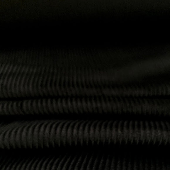 Organic Cotton Stretch Corduroy - 8 Whale - Black - 1/2 Yard