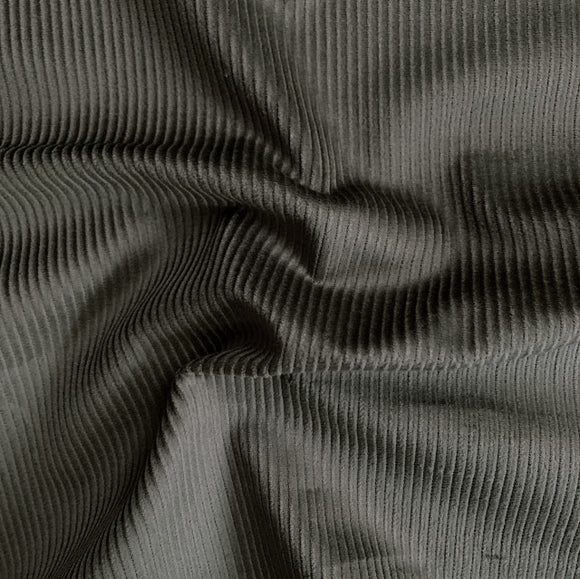 Organic Cotton Stretch Corduroy - 8 Whale - Olive - 1/2 Yard