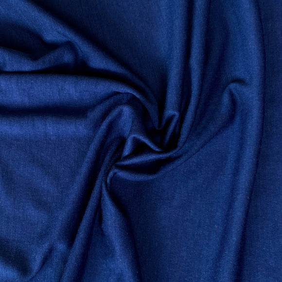 Superfine Merino Wool Jersey - Twilight Blue - 1/2 Yard