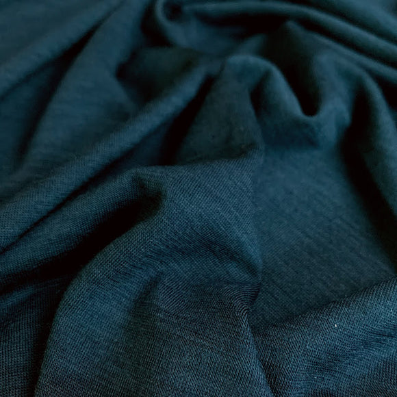 Superfine Merino Wool Jersey - Moroccan Blue - 1/2 Yard