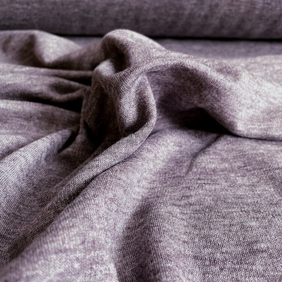 TENCEL™ Lyocell Merino Double Knit Jersey - Heathered Eggplant - Extra Wide 72