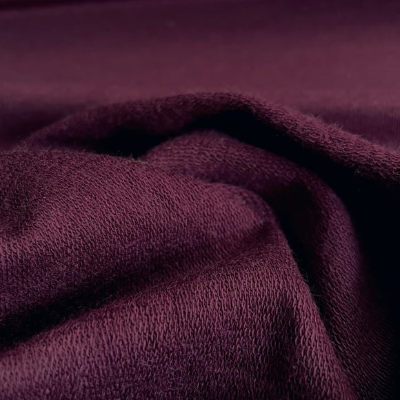 TENCEL™ Lyocell Organic Cotton French Terry - Merlot - 1/2 Yard