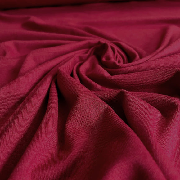 Bamboo/Cotton Stretch Jersey - Scarlet - 1/2 Yard