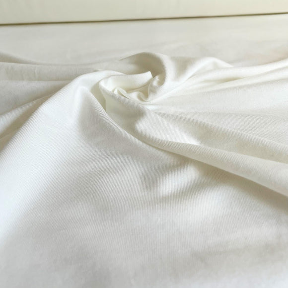 Bamboo/Cotton Stretch Jersey - Ivory / Off-white - 1/2 Yard