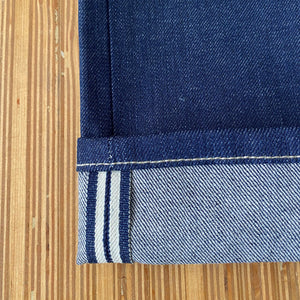 Cone Mills - Comfort Stretch Selvedge Denim - Medium Indigo - 13 oz - 1/2 Yard