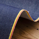 Cone Mills - Selvedge Stretch Denim - Rainbow Selvedge - Medium Indigo - 12.25 oz - 1/2 Yard