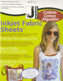 Jacquard - InkJet Fabric 8.5-Inch x 11-Inch Sheets, Printable Cotton, 10-Pack