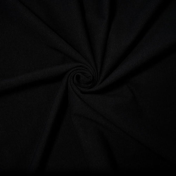 Bamboo/Cotton Stretch Jersey - Black - 1/2 Yard