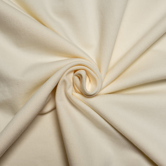 Cream Organic Jersey Knit Fabric by Birch Organics - Off-White - 1/2 yard
