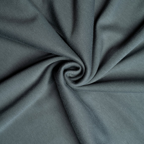 Slate Organic Interlock Knit Fabric by Birch Organics - Dark Grey - 1/2 yard