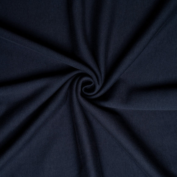 Dusk Organic Interlock Knit Fabric by Birch Organics - Dark Navy - 1/2 yard