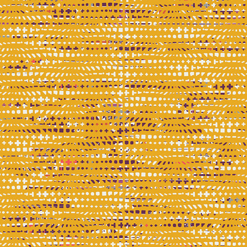Avantgarde Jersey Knit by Art Gallery Fabrics - Fluxus Ochre - 1/2 Yard