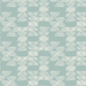 Bountiful Jersey Knit by Art Gallery Fabrics - Haymow Early - Green / Teal - 1/2 Yard
