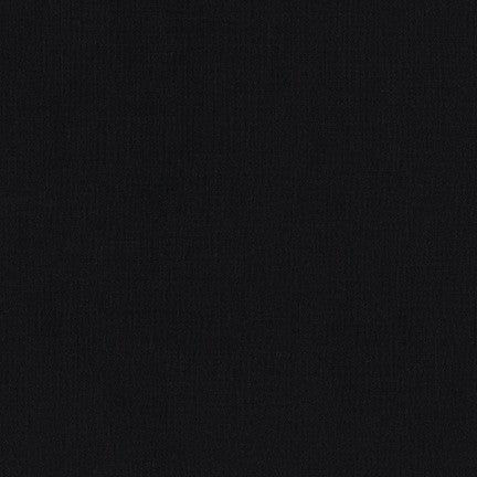 Robert Kaufman Kona Cotton Fabric Black - 1/2 Yard